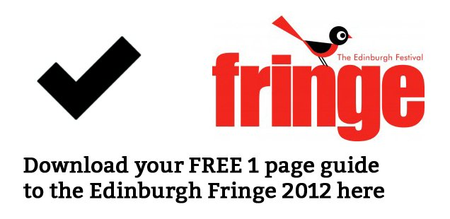 Edinburgh Fringe To Do List - Free 1 Page PDF Guide