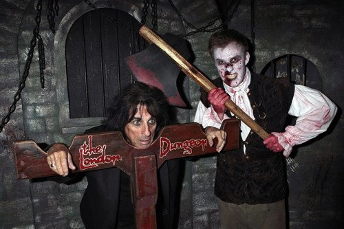 Alice Cooper at the London Dungeon