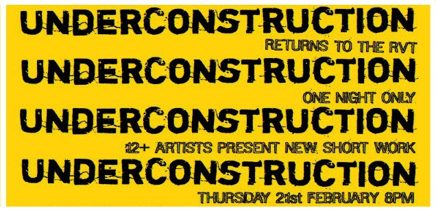 To Do Tonight: UnderConstruction @ The RVT