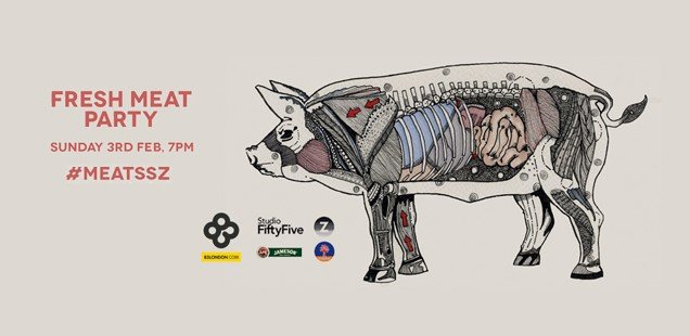 Shellsuit Zombie Launch: Fresh Meat free party for creatives tonight at Slaughter House