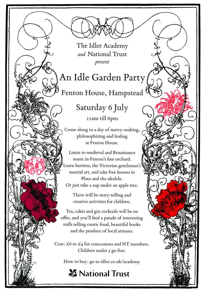 an idle garden party