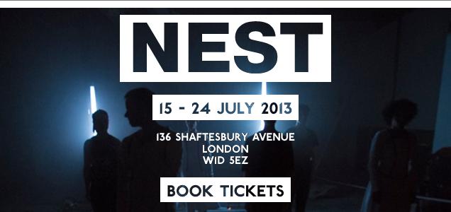 NEST pop up dance & light show on Shaftesbury Avenue