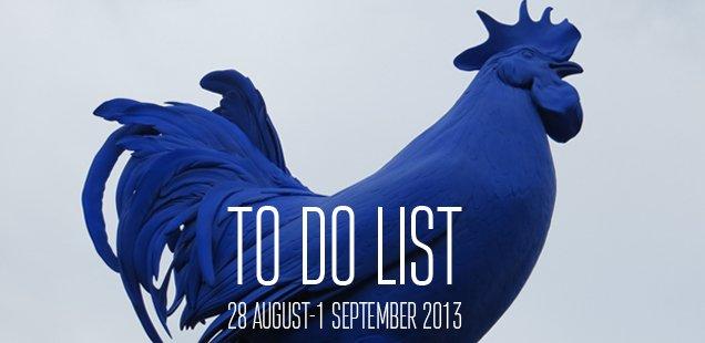 London To Do List – 28 August-1 September 2013