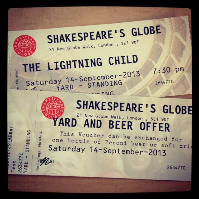 Free Beer Offer - Shakespeare's Globe