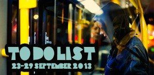 London To Do List - 23-29 September