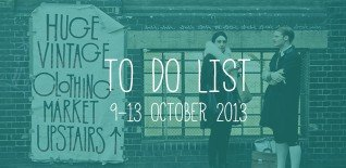 London To Do List – 9-13 October
