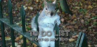 London To Do List - 31 October-10 November