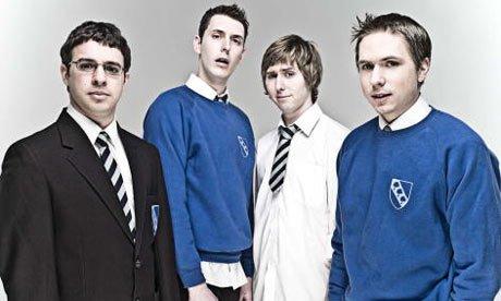 The Inbetweeners: Will (Simon Bird), Neil (Blake Harrison), Jay (James Buckley) and Simon (Joe Thomas).
