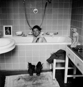 Lee Miller in Hitler's bathtub, Hitler's apartment, Munich, Germany 1945