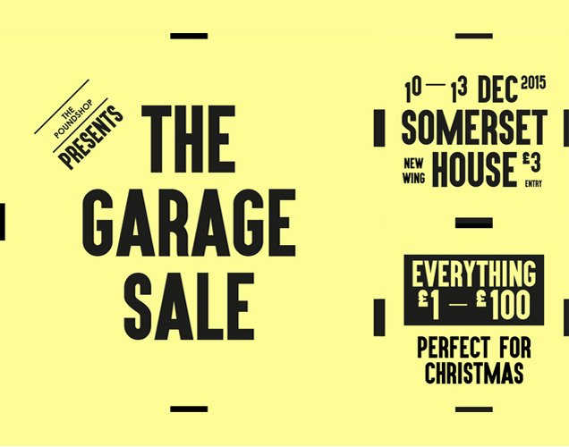 the poundshop presents the garage sale