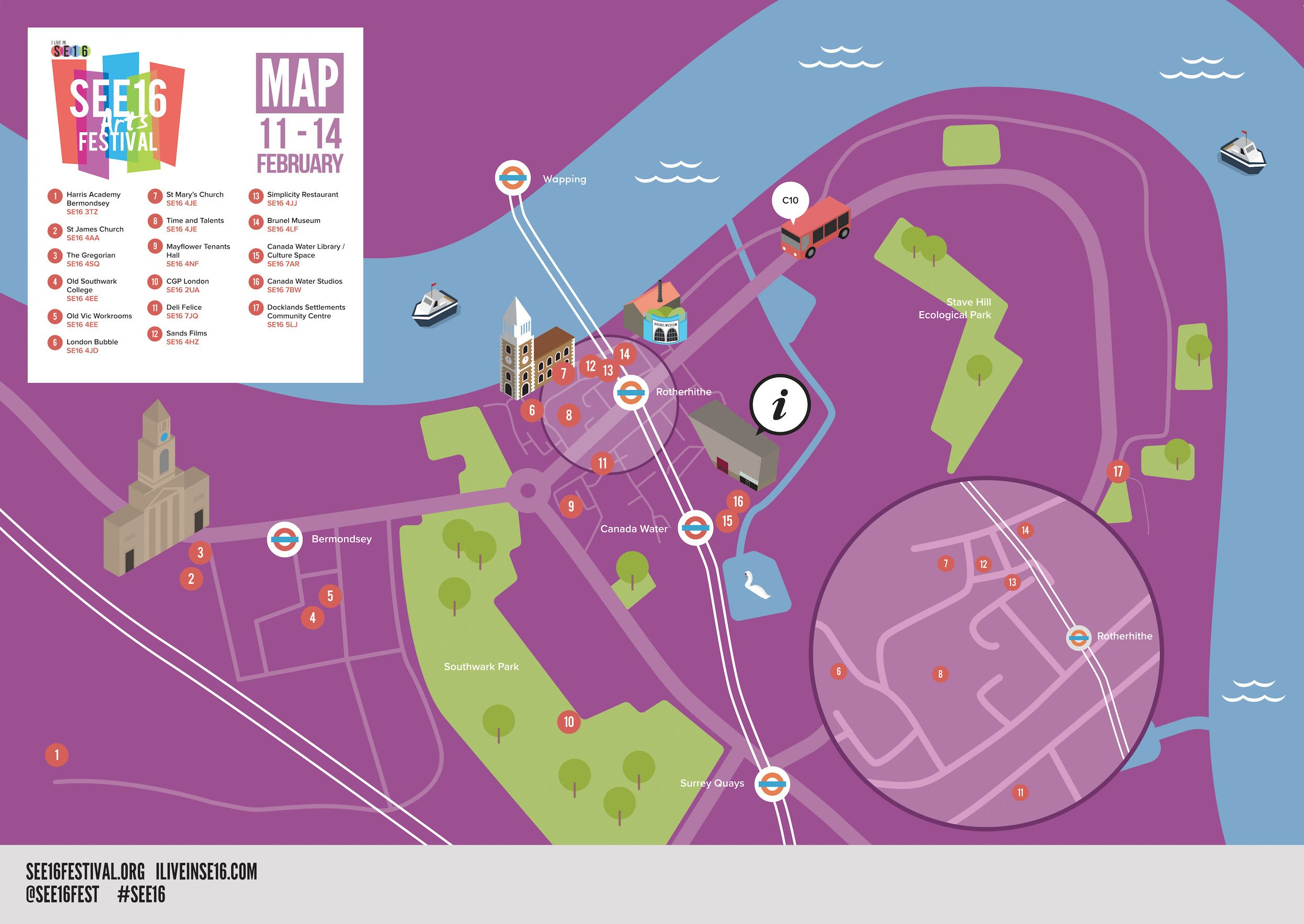SEE16 Arts Festival Map