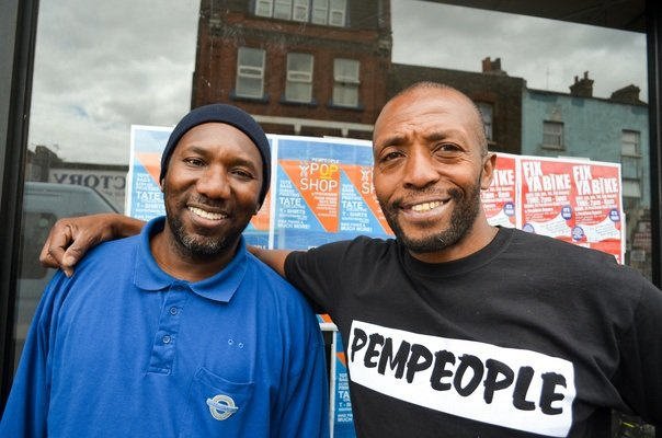 Nicholas of People Empowering People and his Friend. Nicholas is a local campaigner who works with facilitating the youngsters of the area and promoting local opportunities to the long term residents of the area.