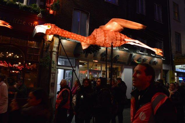 Flamingo Flyway - Lumiere London