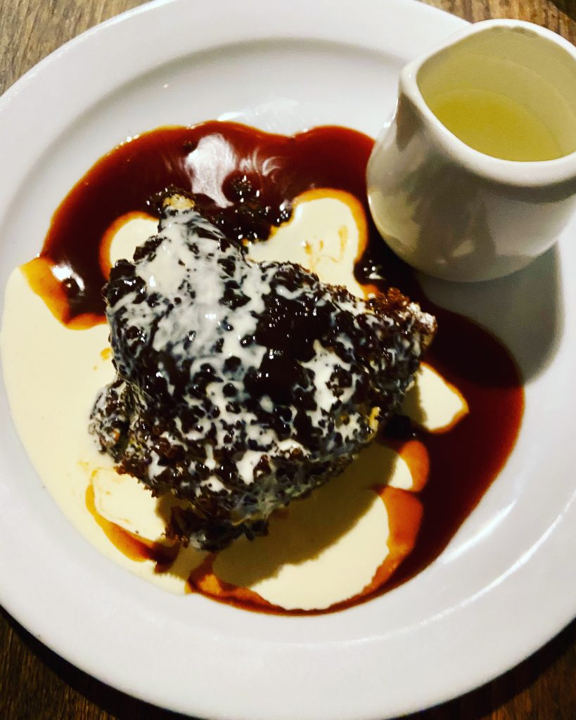 Sticky Date Pudding at Sparrow, Lewisham