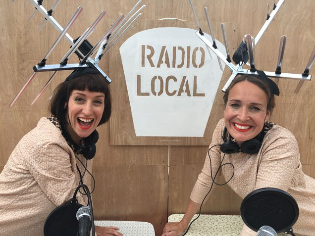 Radio Local in Culture Mile with Hunt & Darton. Photo: Christa Holka