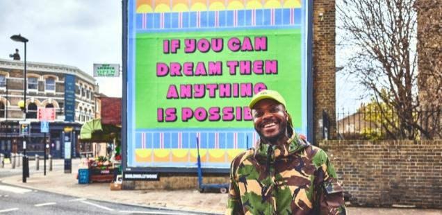 Things to Do in London 2021 - Yinka Ilori with artwork